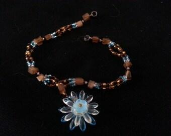 Flower Pendant Bracelet