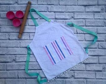 polka dot toddler apron