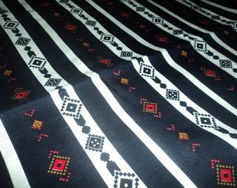 Navy Blue Aztec Fabric