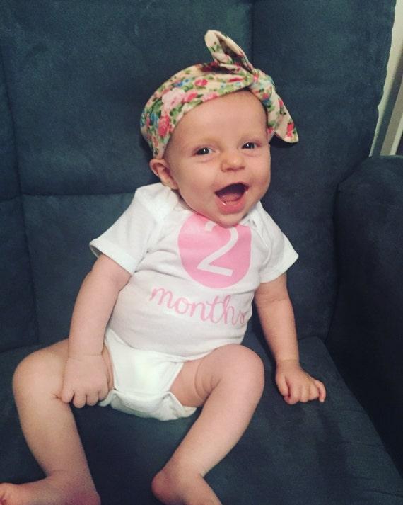 Monthly Growing Baby Milestone Onsies Baby Shower Gift