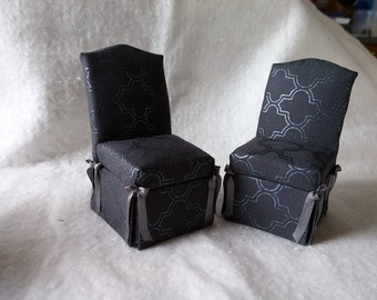 Miniature Upholstered Parsons Chairs