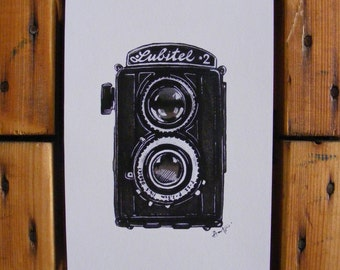 Lubitel 2 Illustration   A5 Print