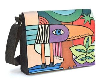 Interchangeable Flap Messenger Bag - Floresta Amazônica