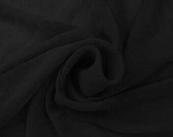 Hi Multi Chiffon Fabric Black- 10 yards (LF1)