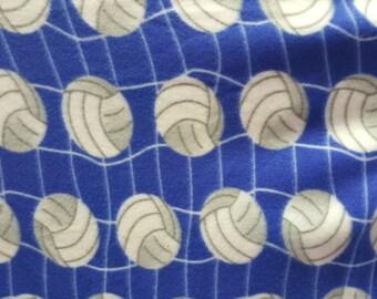 Volleyball Polar Fleece New Design Fabric by the Yard - Blue