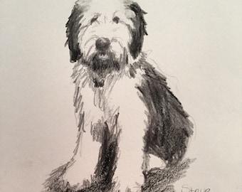 Custom Dog Portrait, Dog Painting