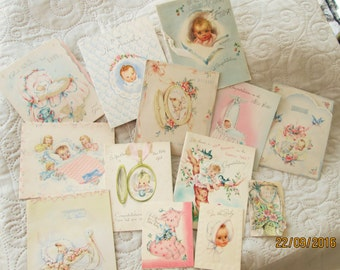 1940's Baby Cards, vintage baby cards, american baby cards, new baby cards, scrapbook cards, collectible greeting cards, scrapbooking,
