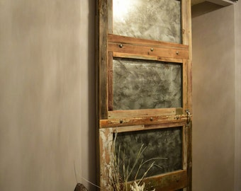 BARN Door - Custom Built Reclaimed Wood and Zinc Barn Door - Made to Order