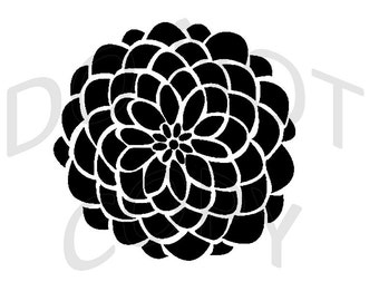 Reusable Stencil - Dahlia Flower - Many Sizes to Choose from!