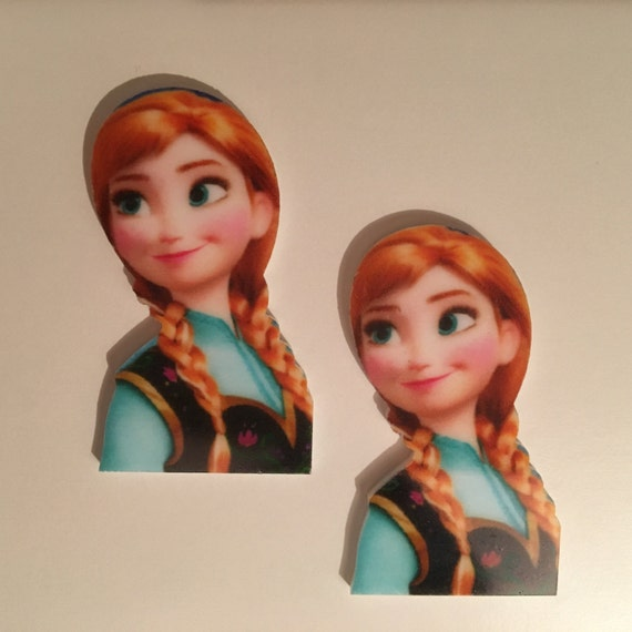 Reduced 2 Frozen Princess Anna Planar Resin. Flatback cabochon bow centre embellishments laser cut shrinky dink topper. Jewellery brooch