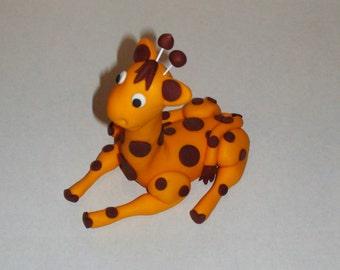 Polka Dot Giraffe Cake Topper