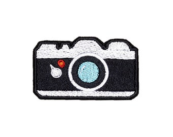 Camera Patch Iron On Embroidered Patches Applique Embroidery • Emoji Foto Cute Film