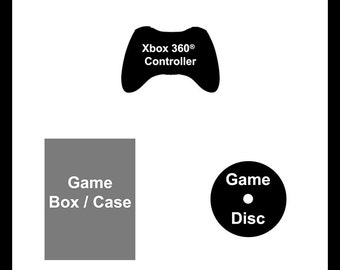 Xbox 360 Deep NerdFrame - Choose Your own Background Color, Xbox 360 Video Game Title, and Xbox 360 Controller