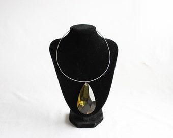 Swarovski Crystal Golden Shadow Pendant Drop