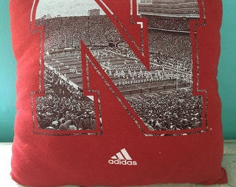 Nebraska Cornhuskers T Shirt pillow