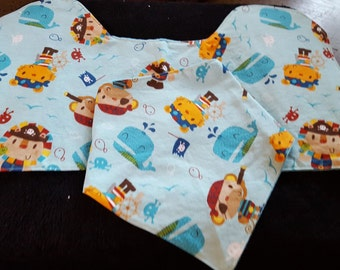 pirate themed bandana bib and burp pad