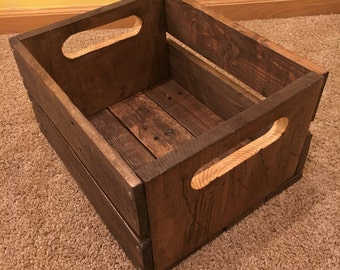 Reclaimed vintage crates, pallet wood crates, barnwood crates