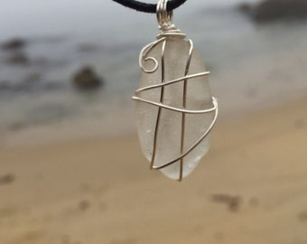 Hand Crafted Sea Glass Necklace