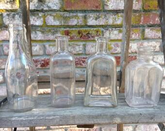 Vintage Clear Bottles