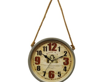 Hession Rope Style Wall Clocks