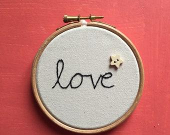 Love Embroidery Hoop