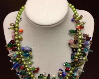 Beaded choker/necklace.