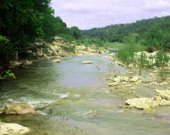 Colorado River Photography, Water Print, Nature Print, Landscape Print, Texas Print