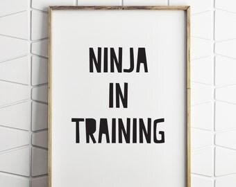 boys printable ninja decor, printable ninja decor, printable ninja art, ninja download, boys printable decor