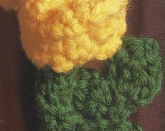 Rosebud Sachet Crochet Pattern - Original Shipped USPS and PDF Emailed
