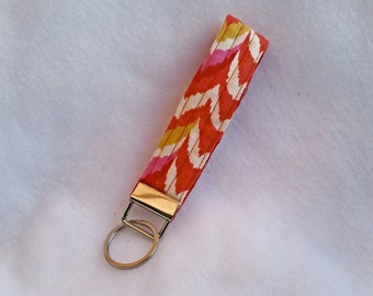 Key Fob, Orange key chain, wristlet