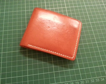 Handmade Vachetta Leather Wallet (Used and aged with great patina)