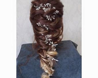 Bridal hair vine, Bridal Hair Halo, wedding accessory, Formal Hair Piece