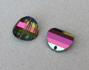Very Rare Vintage Swarovski crystal pagoda beads: Art. 5107R - 10 mm - effect color vitrail medium II