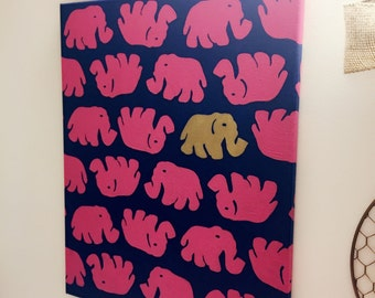 Lilly Pulitzer Tusk in the Sun Canvas