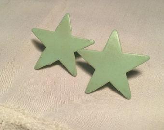 Retro Style Plastic Star Earrings