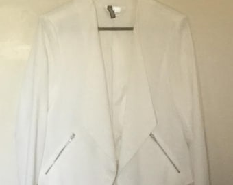 White Blazer with Silver Zippers