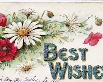 Old Vintage Postcard, 1911, 1c Stamp