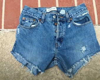 size 2 high waisted cut off shorts
