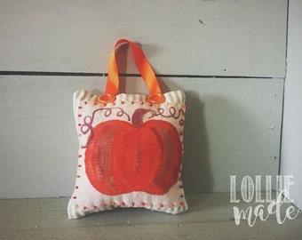 Fall Pumpkin Pillow Door Hanger