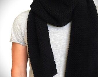 Alpaca scarf / / black