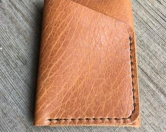 Mens 2 pocket Bison Leather wallet