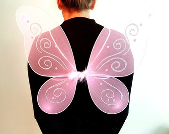 Glitter Butterfly PINK Fairy Wings - fancy dress parties, Party & Dressing-up, Halloween, Hen Party