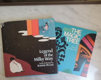 Two Folk Tale Books for Children Legend of the Milky Way and The Magic Tree