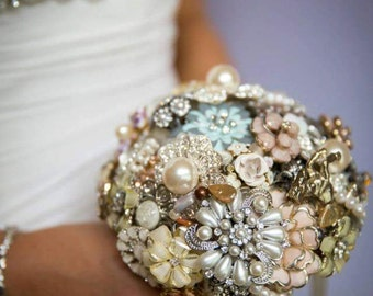 Jewellery Brooch Wedding Bouquet made to order