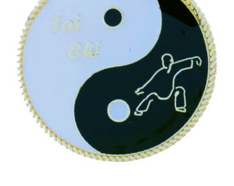 Yin Yang Tai Chi Day & Night Pin