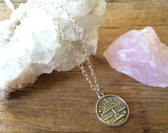 Libra Double-Sided Coin Necklace