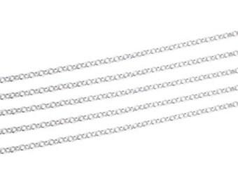 Silver 2mm Rolo Link Chain, Bulk Lot, 925 Sterling Silver