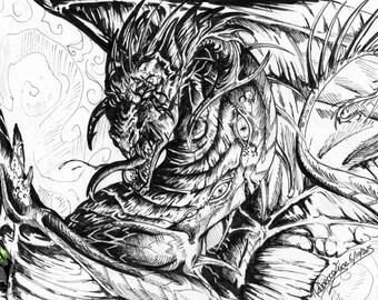 Demonic: Inktober Originals 2015