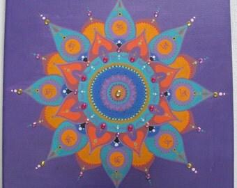 Purple mandala Ohm