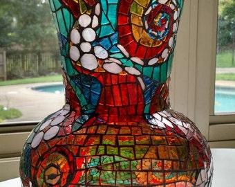 Octopus Mosaic Vase